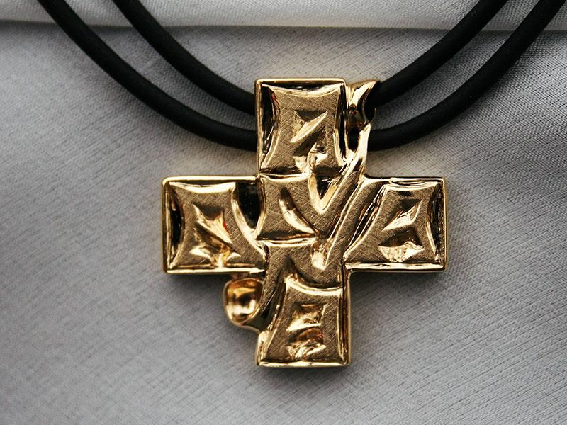 Kreuz-Anhänger ANNA, 14ct GG